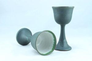 Keramik Weinkelch